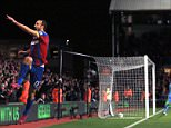 ***alternative crop***Crystal Palace's Glenn Murray (left) celebrates scoring his sides first goal of the game.