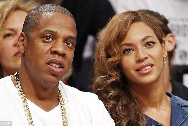 Sandwich-worthy: The reigning king and queen of R&B, Jay Z (left) and his wife Beyonce (right), who were created by Ms Cherry out of a peanut butter and jelly sandwich