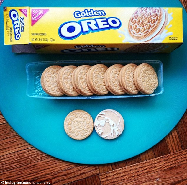 Kookie: An ode to Goldie, a British electronic music star and graffiti artist, his outline expertly piped onto a Golden Oreo using its creamy filling