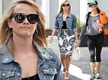 Brentwood, CA - Part 2 - Reese Witherspoon was back to business as usual on Monday as she stopped by her office in Beverly Hills. The blonde beauty looked radiant in a black-and-white patterned sundress and denim jacket. \nAKM-GSI        April 6, 2015\nTo License These Photos, Please Contact :\nSteve Ginsburg\n(310) 505-8447\n(323) 423-9397\nsteve@akmgsi.com\nsales@akmgsi.com\nor\nMaria Buda\n(917) 242-1505\nmbuda@akmgsi.com\nginsburgspalyinc@gmail.com