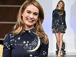 "TOKYO, JAPAN - APRIL 07:  Actress Lily James attends the press conference for ""Cinderella"" at The Ritz Carlton Tokyo on April 7, 2015 in Tokyo, Japan.  (Photo by Jun Sato/WireImage)"