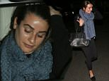 UK CLIENTS MUST CREDIT: AKM-GSI ONLY\nEXCLUSIVE: Actress Lea Michel eseen  out with her 'Glee' co-star Becca Tobin for dinner at Sugarfish restaurant. She was bare-faced and playfully tried to use her friend to shield herself from the camera.\n\nPictured: Lea Michele\nRef: SPL993322  060415   EXCLUSIVE\nPicture by: AKM-GSI / Splash News\n\n