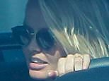Please contact X17 before any use of these exclusive photos - x17@x17agency.com   Lara Bingle already out 10 days after baby Rocket Zot birth in Malibu driving around with friend april 6, 2015 X17online.com