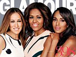 """The President's Committee never looked so fabulous.  Sarah Jessica Parker and Kerry Washington appear alongside the First Lady Michelle Obama on Glamour magazine's May cover to bring awareness and aid to military women and families.  The 38-year-old """"Scandal"""" star and Parker are involved with the President's Committee on the Arts and Humanities and are assisting the First Lady with her crusade for servicewomen.  """"During the first campaign one of my jobs as my husband's spouse was to travel around the country and really listen to women,"""" Obama, 51, told the mag, according to Us Weekly. """"We held small discussion groups, (and) there were voices that were new to me: the voices of military spouses, many of them women, and veterans."""""""
