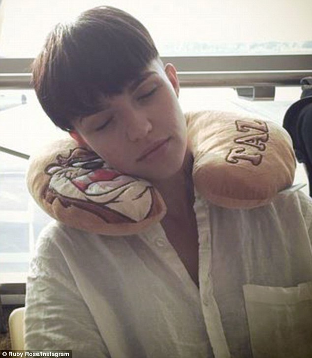 New do: Ruby Rose took to Instagram on Sunday showing off a new hairstyle as she prepared to jet out of Singapore