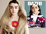 Credit as follows\nMaisie Williams shot by Ben Toms and styled by Robbie Spencer for Dazed Magazine Spring / Summer 2015. Issue on sale Thursday 9th April\n\n
