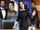 LATE NIGHT WITH SETH MEYERS -- Episode 0189 -- Pictured: Actress Kat Dennings arrives on April 7, 2015 -- (Photo by: Lloyd Bishop/NBC/NBCU Photo Bank via Getty Images)