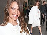 Hilary Swank looks radiant while leaving the NBC studios in New York City.\n\nPictured: Hilary Swank\nRef: SPL994236  080415  \nPicture by: Felipe Ramales / Splash News\n\nSplash News and Pictures\nLos Angeles: 310-821-2666\nNew York: 212-619-2666\nLondon: 870-934-2666\nphotodesk@splashnews.com\n