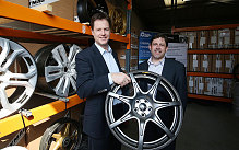 Liberal Democrat leader Nick Clegg with local candidate Duncan Hames (right), during his visit to Dymag, a specialist manufacturer of high performance racing wheels while on the General Election campaign trail in Chippenham, Wiltshire.
