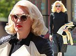 Los Angeles, CA - Hot mama Gwen Stefani looked her usual stylish self on Wednesday as she stopped by her regular acupuncture clinic in Koreatown. The No Doubt front woman donned a black and tan leather jacket, boyfriend-style baggy leather shorts and structure open to heels as she made her way to her appointment, trailed by her bodyguard, nanny, and son Apollo.\nAKM-GSI          April 8, 2015\nTo License These Photos, Please Contact :\nSteve Ginsburg\n(310) 505-8447\n(323) 423-9397\nsteve@akmgsi.com\nsales@akmgsi.com\nor\nMaria Buda\n(917) 242-1505\nmbuda@akmgsi.com\nginsburgspalyinc@gmail.com
