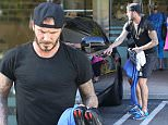 Brentwood, CA - David Beckham feeds his Soul Cycle addiction with another spin class at the trendy Brentwood studio. The international soccer star graciously shook hands with a few fans before speeding off in his Rolls Royce.  AKM-GSI          April 8, 2015 To License These Photos, Please Contact : Steve Ginsburg (310) 505-8447 (323) 423-9397 steve@akmgsi.com sales@akmgsi.com or Maria Buda (917) 242-1505 mbuda@akmgsi.com ginsburgspalyinc@gmail.com