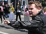 """James Corden and a local theater company performed """"Crosswalk the Musical"""" on """"The Late Late Show with James Corden,"""" Tuesday, April 7 (12:37 -- 1:37 AM, ET/PT) on the CBS Television Network. Photo: Sonja Flemming/CBS é2015 CBS Broadcasting, Inc. All Rights Reserved"""