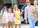 05.APRIL.2015 - VENICE - USA\n*** EXCLUSIVE ALL ROUND PICTURES AVAILABLE FOR UK ONLY ***\nREESE WITHERSPOON, JIM TOTH, AVA PHILLIPPE, DEACON PHILIPPE AND TENNESSEE TOTH\nREESE WITHERSPOON LEAVES CHURCH WITH HER THREE CHILDREN AND HUSBAND JIM TOTH ON EASTER SUNDAY.\nREESE LOOKED RADIANT IN A BRIGHT YELLOW SUNDRESS AND WHITE HEELS WHILE HER 15 YEAR OLD DAUGHTER AVA SHOWED OFF HER NEW BLUE LOCKS.\nBYLINE MUST READ : XPOSUREPHOTOS.COM\n***UK CLIENTS - PICTURES CONTAINING CHILDREN PLEASE PIXELATE FACE PRIOR TO PUBLICATION ***\n