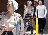 135248, EXCLUSIVE: Miley Cyrus wears a colorful hippie-style outfit as she shops with BFF and personal assistant Cheyne Thomas while on vacation in Northern California. Miley, who's beau Patrick Schwarzenegger was recently photographed getting close to a female friend, wore a corset top, a long, colorful skirt, a beanie, and a jacket as she walked around. California - Tuesday April 7, 2015. Photograph: Juan Sharma/Bruja, © PacificCoastNews. Los Angeles Office: +1 310.822.0419 sales@pacificcoastnews.com FEE MUST BE AGREED PRIOR TO USAGE