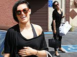 UK CLIENTS MUST CREDIT: AKM-GSI ONLY\nEXCLUSIVE: Rumer Willis and Val Chmerkovskiy arrive together for 'Dancing With The Stars' dance rehearsal in Hollywood, CA on April 7, 2015.\n\nPictured: Rumer Willis\nRef: SPL993820  070415   EXCLUSIVE\nPicture by: AKM-GSI / Splash News\n\n