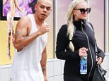 Ashlee Simpson shows off her baby bump while leaving the gym with her husband in Studio City\nFeaturing: Evan Ross\nWhere: Studio City, California, United States\nWhen: 07 Apr 2015\nCredit: WENN.com