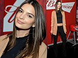 LOS ANGELES, CA - APRIL 07:  Emily Ratajkowski, star of the upcoming Entourage movie, joined Budweiser at an event in Los Angeles on April 7, 2015, to launch a coast-to-coast search for the official Bud & Burgers Champion. The Entourage movie premieres June 5.  (Photo by John Sciulli/Getty Images for Budweiser)