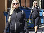 Picture Shows: Ashlee Simpson  April 08, 2015\n \n Pregnant singer Ashlee Simpson hits the Tracy Anderson gym for a morning workout with a friend in Studio City, California. Ashlee, now in the latter stage of her pregnancy, is sticking to her vigorous exercise routine to stay fit and maintain a healthy weight.\n \n Exclusive All Rounder\n UK RIGHTS ONLY\n Pictures by : FameFlynet UK © 2015\n Tel : +44 (0)20 3551 5049\n Email : info@fameflynet.uk.com