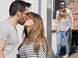 Pregnant Coronation Street star Samia Ghadie has lunch with her fiance Sylvain Longchambon and ex Corrie star Angela Lonsdale at The Bubble Rooms in Alderley Edge, Cheshire on Wednesday afternoon...... 8.4.15