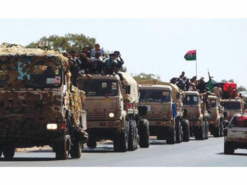 Libya Shield forces take up positions to protect Tripoli