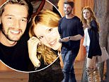 135315, EXCLUSIVE: Bella Thorne and Patrick Schwarzenegger have dinner together at the Mud Hen Tavern in LA. Patrick, who is dating Miley Cyrus but was recently pictured getting close to a bikini clad friend, smiled while leaving the restaurant with dressed up Disney star Bella. Los Angeles, California - Wednesday April 8, 2015. Photograph: © PacificCoastNews. Los Angeles Office: +1 310.822.0419 sales@pacificcoastnews.com FEE MUST BE AGREED PRIOR TO USAGE