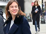 April 8, 2015: British television presenter Alexa Chung photographed shopping in the Soho District of New York City today.  \nMandatory Credit: INFphoto.com Ref.: infusny-279