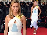 Amanda Holden attending the Britain's Got Talent 2015 season launch held at the Mayfair Hotel on Stratton Street, London