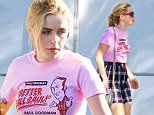 "UK CLIENTS MUST CREDIT: AKM-GSI ONLY\nEXCLUSIVE: Kiernan Shipka goes clothes shopping in Beverly Hills, CA. The 'Mad Men' star wore a pink 'Better Call Saul"" Attorney at Law t-shirt and plaid skirt as she shopped around with an escort.\n\nPictured: Kiernan Shipka\nRef: SPL994494  080415   EXCLUSIVE\nPicture by: AKM-GSI / Splash News\n\n"