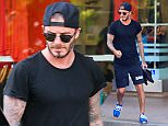 9 Apr 2015 - BRENTWOOD - USA  DAVID BECKHAM AT SOUL CYCLE IN BRENTWOOD.   BYLINE MUST READ : XPOSUREPHOTOS.COM  ***UK CLIENTS - PICTURES CONTAINING CHILDREN PLEASE PIXELATE FACE PRIOR TO PUBLICATION ***  **UK CLIENTS MUST CALL PRIOR TO TV OR ONLINE USAGE PLEASE TELEPHONE  44 208 344 2007 ***