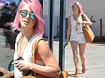EXCLUSIVE: Julianne Hough Shows Off Her New Pink Hair\n\nPictured: Julianne Hough\nRef: SPL994159  080415   EXCLUSIVE\nPicture by: Photographer Group / Splash News\n\nSplash News and Pictures\nLos Angeles: 310-821-2666\nNew York: 212-619-2666\nLondon: 870-934-2666\nphotodesk@splashnews.com\n