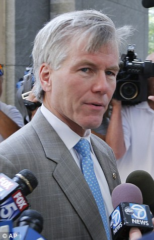 Former Virginia Gov. Bob McDonnell arrives at federal court in Richmond, Va., Thursday, Aug. 28, 2014.  The prosecution in the McDonnell corruption case begins its rebuttal today. (AP Photo/Steve Helber)
