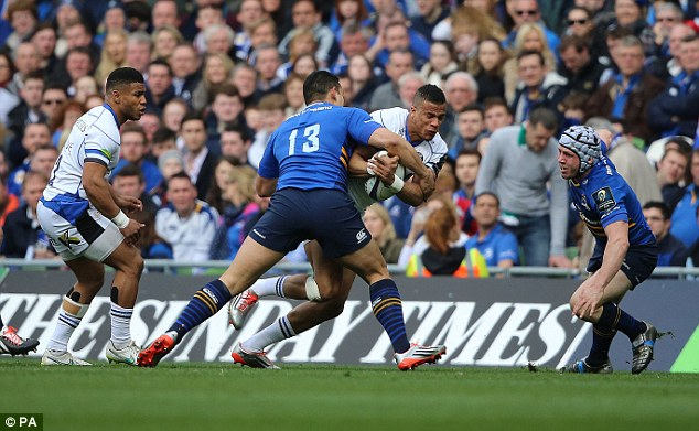 Anthony Watson carries during an impressive Bath performance, but the English side came up short