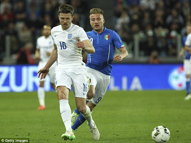 Carrick was hailed after an impressive performance for England in their friendly draw with Italy last week