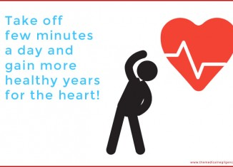 Exercise few minutes a day for a healthy heart