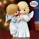 Collectible Precious Moments Angel Kisses Child Angel Figurine - Exclusive Precious Moments® Collectible Angel Figurine is a Heavenly Picture of Innocence Sent on Sparkling Wings!