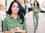 10 Apr 2015  - LONDON  - UK *** EXCLUSIVE ALL ROUND PICTURES *** BRITISH POP SINGER TULISA CONTOSTAVLOS LEAVES WARNER MUSIC OFFICES IN KENSINGTON WEARING A GREEN JUMPSUIT AND BLACK STRAPPED HEELS. BYLINE MUST READ : XPOSUREPHOTOS.COM ***UK CLIENTS - PICTURES CONTAINING CHILDREN PLEASE PIXELATE FACE PRIOR TO PUBLICATION *** **UK CLIENTS MUST CALL PRIOR TO TV OR ONLINE USAGE PLEASE TELEPHONE  442083442007