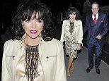 Picture Shows: Joan Collins, Percy Gibson  April 10, 2015    Joan Collins seen leaving the Chiltern Firehouse Hotel with her husband Percy Gibson in London, England.    Non Exclusive  WORLDWIDE RIGHTS    Pictures by : FameFlynet UK © 2015  Tel : +44 (0)20 3551 5049  Email : info@fameflynet.uk.com
