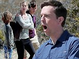 *** UK ONLY *** *** MAIL ONLINE OUT ***135297, Christina Applegate and Ed Helms are seen as the Griswolds on the set of the 'Vacation' reboot filming in the Mojave desert. 'Hangover' star Ed plays grown Rusty Griswold attempting a cross country drive with his wife, played by 'Married with Children' star Christina, and their children played bySkyler Gisondo and Steele Stebbins. An updated version of the 'Family Truckster' also appears to be in the new film, with an ugly but modern car called the Prancer seen on set and appearing to drive off by itself at one point. The movie guest stars Chevy Chase and Beverly DeAngelo, reprising their roles from the original films as well as Chris Hemsworth. Mojave, California - Wednesday April 8, 2015. \nPHOTOGRAPH BY Pacific Coast News / Barcroft Media\nUK Office, London.\nT +44 845 370 2233\nW www.barcroftmedia.com\nUSA Office, New York City.\nT +1 212 796 2458\nW www.barcroftusa.com\nIndian Office, Delhi.\nT +91 11 4053 2429\nW www.barcroftindia.c