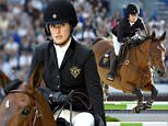 Mandatory Credit: Photo by Action Press/REX Shutterstock (4634428f)\n Jessica Springsteen riding Davendy S\n Saut Herm¿®s show Jumping at Grand-Palais, Paris, France - 10 Apr 2015\n \n