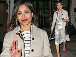 EXCLUSIVE: Freida Pinto looks radiant while wearing a red lipstick with matching shoes when she steps out in New York City.\n\nPictured: Freida Pinto\nRef: SPL995345  090415   EXCLUSIVE\nPicture by: Felipe Ramales / Splash News\n\nSplash News and Pictures\nLos Angeles: 310-821-2666\nNew York: 212-619-2666\nLondon: 870-934-2666\nphotodesk@splashnews.com\n