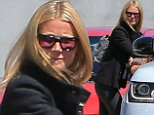 Please contact X17 before any use of these exclusive photos - x17@x17agency.com   PREMIUM EXCLUSIVE - Gwyneth Paltrow and daughter Apple hit Gracias Madre in West Hollywood.  The single superstar has gone public with her romance to Tv executive Brad Falchuk.  Thursday, April 9, 2015 X17online.com