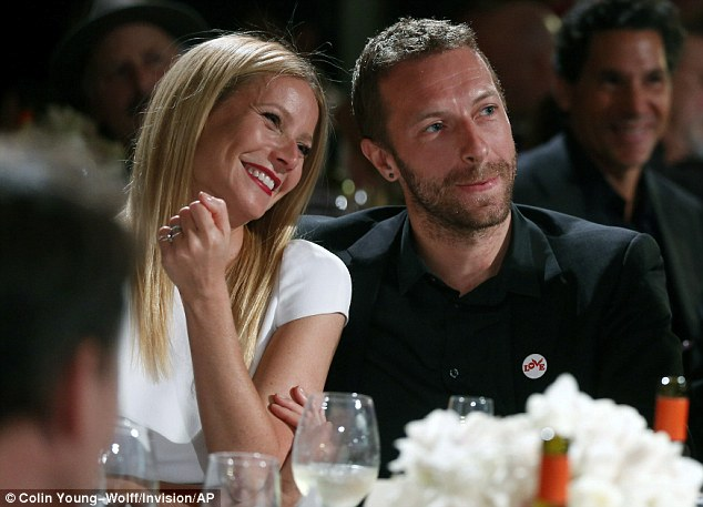 Slowly, slowly: The lunch outing came as it was revealed that she and Chris Martin had actually parted ways about a year before they revealed to the public that they had 'consciously uncoupled'