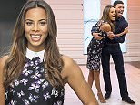 EDITORIAL USE ONLY. NO MERCHANDISING\n Mandatory Credit: Photo by ITV/REX Shutterstock (4634209at)\n Rochelle Humes and Chris Kamara\n 'Good Morning Britain' TV Programme, London, Britain - 10 Apr 2015\n \n