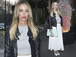 Picture Shows: Lauren Pope  April 09, 2015\n \n Lauren Pope attends the Music Week Awards 2015 at the Grosvenor House in London, UK. 'The Only Way Is Essex' star rocked a grey crop top with a black leather jacket and white midi skirt.\n \n Non Exclusive\n WORLDWIDE RIGHTS\n \n Pictures by : FameFlynet UK © 2015\n Tel : +44 (0)20 3551 5049\n Email : info@fameflynet.uk.com
