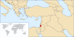 Location of Palestine
