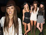 Indio, CA - Supermodel Alessandra Ambrosio smiles for the cameras as she enjoys night one at the Coachella Music Festival with her girlfriends.  Alessandra and her girls posed with peace sign.\nAKM-GSI          April 10, 2015\nTo License These Photos, Please Contact :\nSteve Ginsburg\n(310) 505-8447\n(323) 423-9397\nsteve@akmgsi.com\nsales@akmgsi.com\nor\nMaria Buda\n(917) 242-1505\nmbuda@akmgsi.com\nginsburgspalyinc@gmail.com
