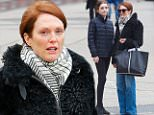 Actress Julianne Moore spotted makeup-free while walking around in the West village, after have her nails done with her daughter at a local nail salon in New York City on Friday April 10, 2015.\n\nPictured: Julianne Moore\nRef: SPL996070  100415  \nPicture by: Felipe Ramales / Splash News\n\nSplash News and Pictures\nLos Angeles: 310-821-2666\nNew York: 212-619-2666\nLondon: 870-934-2666\nphotodesk@splashnews.com\n