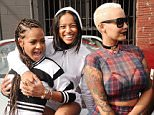 Christina Milian, Karrueche Tran and Amber Rose share a laugh as they get ready to do a a luxury Motor run to Coachella in a convoy of exotic cars in Los Angeles, Ca  Pictured: Christina Milian, Karrueche Tran and Amber Rose Ref: SPL995366  100415   Picture by: GoldenEye /London Entertainment  Splash News and Pictures Los Angeles: 310-821-2666 New York: 212-619-2666 London: 870-934-2666 photodesk@splashnews.com