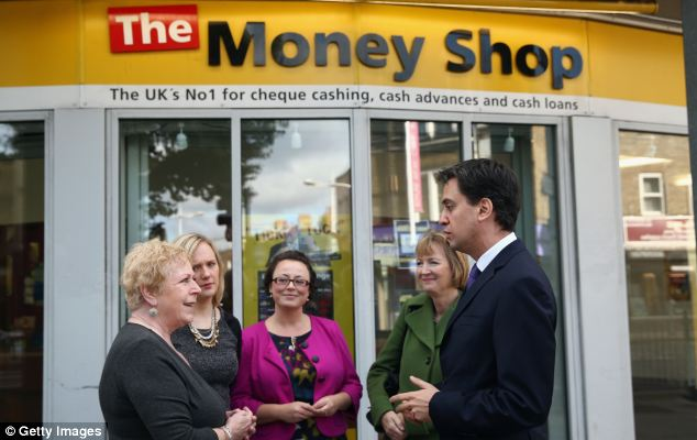 Costs: Labour leader Ed Miliband, pictured in Peckham yesterday, said the government had no answer to the problem of soaring energy bills