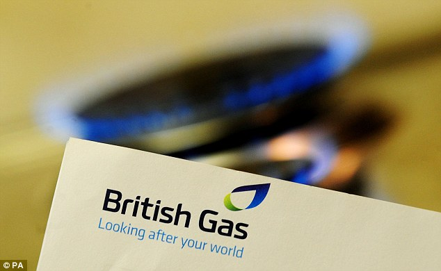 Price surge: British Gas said today that tariffs will rise by 10.4 per cent for electricity and 8.4 per cent for gas from next month